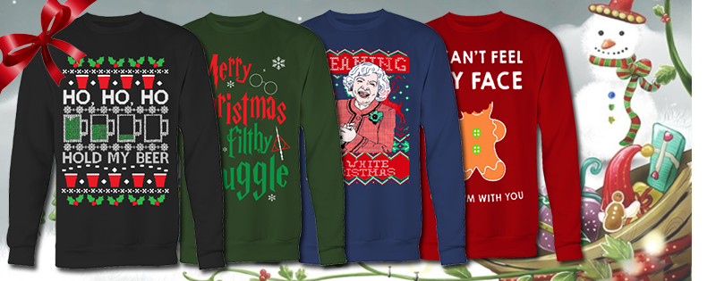 christmas sweater overload